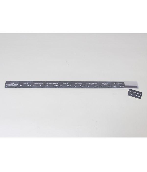 Theken-Preisschiene mit Magnetband