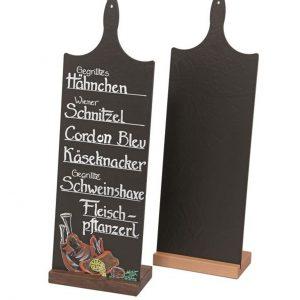 Thekenaufsteller Angebotsschießer – Nussbaumholz