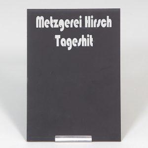 Edelmetall-Tafelhalter mit Tafel DIN A7