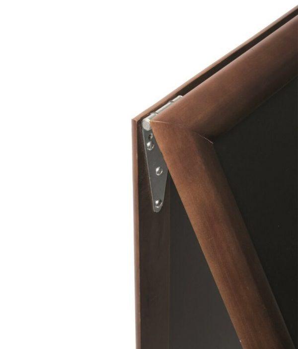 Gehwegtafel Hartholz Deluxe – Dark brown – Groß